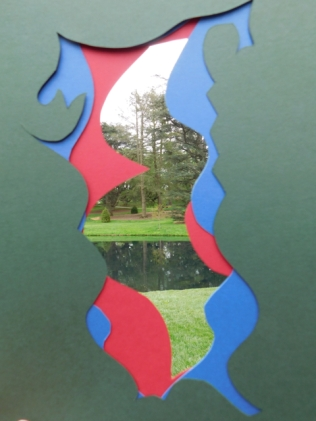 color and nature, green red blue park like with water, 2016