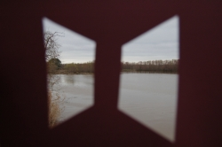 color and nature, red brown optical 2 window view lake, 2015